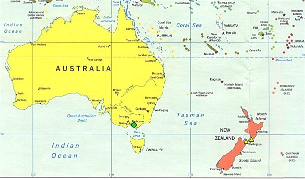 No borders here community world map australia and southwest pacific gumiabroncs Images